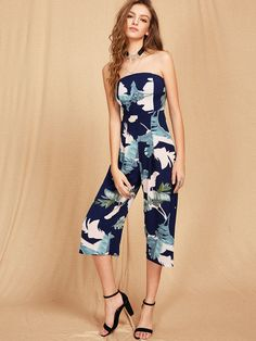 Shop Bardot Tropical Print Backless Jumpsuit online. SheIn offers Bardot Tropical Print Backless Jumpsuit & more to fit your fashionable needs.