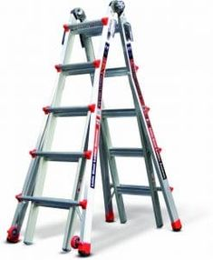 Offer exceptional versatility to your job by using this Little Giant Ladder Systems Alta-One Aluminum Multi-Position Ladder with Type I Duty Rating. Multi Purpose Ladder, A Frame Ladder, Best Ladder, Folding Ladder, Little Giants, Ladder