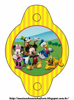 Mickey Mouse Playhouse: {free} party printables. Right click and save as