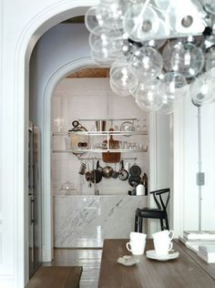 Marble (and that light fixture!)