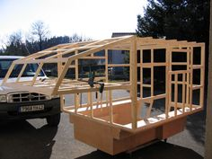 ⚠️ [LAST CHANCE] Step by step how to build a wooden trailer camper. Pickup Camper, Cabover Camper, Diy Camper Trailer, Camper Caravan, Petit Camping Car, Truck Bed Camping, Truck Tent, Truck Camping, Slide In Truck Campers