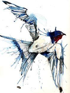 My Swallow.  Tattoo commission.  Such a pretty bird!  My other blog…www.megashford.blogpspot.co.uk