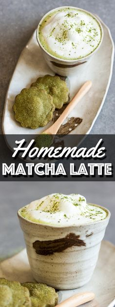 This easy Homemade Matcha Green Tea Latte recipe will have you enjoying your favorite hot drink in just 3 minutes. | wildwildwhisk.com #matcha #matchalatte