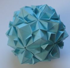 Let's create: Origami Cherry Blossom Ball