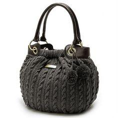 Particulière à tricoter sac à bandoulière femmes la laine (0465-1011606924)