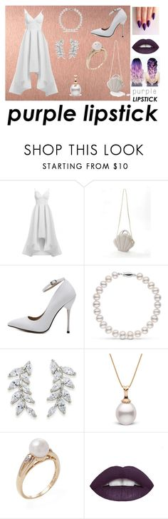 """""""Purple in white"""" by novator ❤ liked on Polyvore featuring beauty, Elle Zeitoune, Carolee and L.A. Girl"""