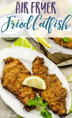 There is just something delicious about catfish! Fixed in the Air Fryer it is even better! If you are looking for a new recipe, give this one a try for dinner! via Awe Filled Homemaker Air Fryer Fish Recipes, Air Frier Recipes, Air Fryer Dinner Recipes, Healthy Recipes, New Recipes, Cooking Recipes, Ninja Recipes, Favorite Recipes, Food Dinners
