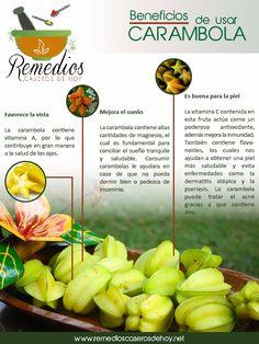 Conoce los beneficios para la salud de usar Carambola. Para más visita: http://remedioscaserosdehoy.net/
