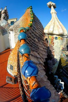 The dragon's back, Casa Batlló, Barcelona