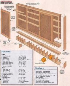 #1798 Shop Pegboard Cabinet Plans - Workshop Solutions