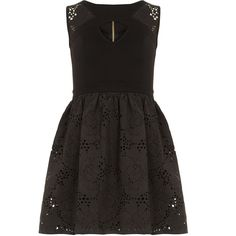 Dorothy Perkins DP Collection Laser cut prom dress (150 RON) ❤ liked on Polyvore featuring dresses, black, clothes / dresses, cocktail prom dress, dorothy perkins, prom dresses, laser cut dress and dorothy perkins dress