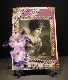 Edle,  nostalgische Gruß- oder Glückwunschkarte mit Frauenmotiv Frame, Home Decor, Crafting, Picture Frame, Decoration Home, Room Decor, Frames, Home Interior Design, Home Decoration