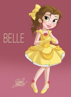 "Belle ""The Beauty and the Beast"" by David Gilson Princesses Disney Belle, Film Disney, Disney Princess Belle, Disney Magic, Disney Art, Baby Princess, Cute Disney, Disney Girls, Baby Disney"