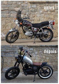 Suzuki Intruder 125 - antes e depois Suzuki GN 125 - before and after Hot Silveira Customs