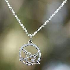 Sterling silver pendant necklace, 'Gentle Dove'. Shop from #UNICEFMarket and help save the lives of children around the world.