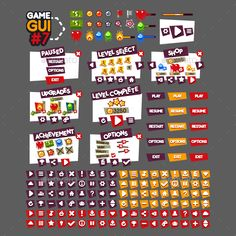 Game GUI #7 - User Interfaces Game Assets