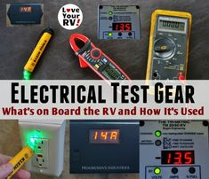 Electrical Testing Gear I Have Onboard Our RV and What It's Used For by the Love Your RV blog - Electrical Testing Gear I Have Onboard Our RV and What It's Used For by the Love Your RV blog - http://www.loveyourrv.com/electrical-test-gear-aboard-rv-uses/