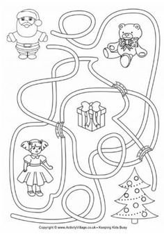 Can you help Father Christmas find his way through the maze to the Christmas tree? Christmas Maze, Father Christmas, Retro Christmas, Christmas Colors, Kids Christmas, Christmas Crafts, Christmas Snowman, Christmas Trees, Christmas Worksheets