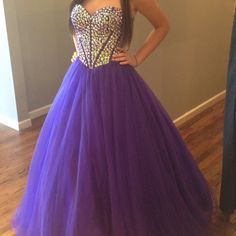 NOT SHERRI HILL. Just really need to sell Beautiful Jovani Prom Dress in perfect condition! No tears. All stones attached. Worn once. Size 2. Alterations on the chest area, so preferably cup sizes A, B, or C Cup. The color is more on the violet side. Open to offers. Sherri Hill Dresses Prom