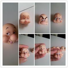 All 7 dwarf faces