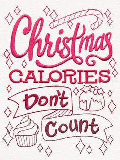 Christmas Apron Christmas Calories Don't Count Embroidered (May be Personalized)