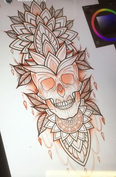 Cool Skull Tattoos For Women – My hair and beauty Mandala Tattoo Design, Skull Tattoo Design, Skull Design, Skull Tattoos, Leg Tattoos, Body Art Tattoos, Tattoo Designs, Henna Tattoos, Henna Designs