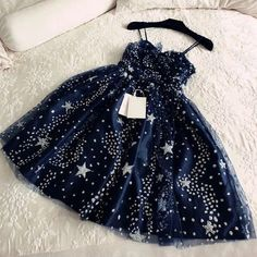 Glitter Stars Sequins Beaded Short Navy Blue Party Dresses