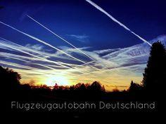Gestern in der Nähe von #Aachen aufgenommen. Flugzeugautobahn #deutschland #himmel #sky #sonne #sun #abenddämmerung #wolken #clouds