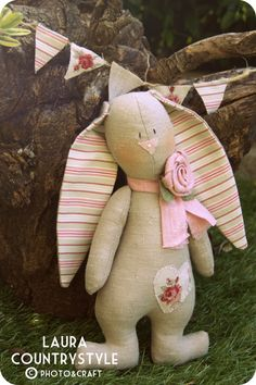 Pdf Sewing Pattern Rabbit Bunny Sewing por lauracountrystyle