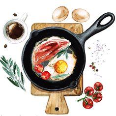 And a breakfast of course ☕️ #nataliahubbert #nataliahubbertart #drawing #dailypainting #dailydoodles #dailyart #instaart #art #artsy #watercolor #watercolour #painting #artistic #artofinstagram #instapainting #artsy #artgram #arteveryday #draweveryday #watercolour_gallery #waterblog #art_we_inspire #global_artist #topcreator #foodpainting #baconandeggs #goodmorning #morningcoffee #happymonday #fotolia #shutterstock