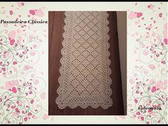 Passadeira Clássica em crochê - YouTube Crochet Videos, Youtube, Pasta, Decor, Crochet Kitchen, Crochet Throw Pattern, Centerpieces, Rugs, Toss Pillows