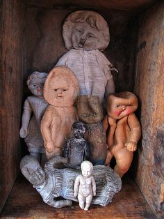 vintage rubber dolls from the collection of Lisa Wood