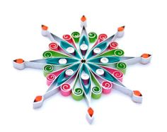 Christmas decoration, Eco-friendly, quilled - by: VBPureDesigns-Etsy
