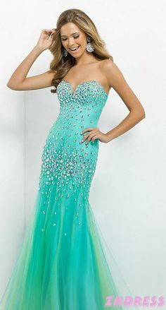 Colorful Dresses: Colorful Prom dress,Cocktail Dress And Colorful Evening Gowns Blue and green
