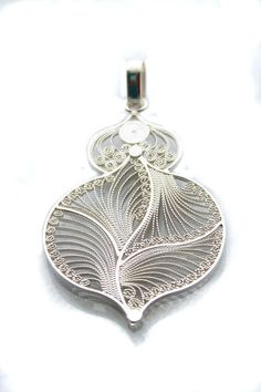 TearJar Pendant. Handmade Filigree Sterling Silver 9.50 the detail here is amazing - must have taken ages. Looks like quilling.