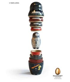 #ART  #Design : Star Wars Matryoshka ||| #CoolART @#Mayas @dbalieiro - Digg  Me want this
