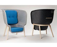 Pod chair by Benjamin Hubert made of PET- bottles