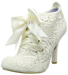 Amazon.com | Irregular Choice Womens Abigails Third Party Evening Lace Up Mid Heels - Cream - 7-38 | Shoes