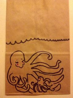 Twitter / mcahogarth: Today's lunchbag art: Mommy ...