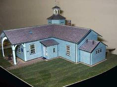 This beautiful paper model of the Bergedorf Station, in German, was created by designer Jürgen Koch and was originally posted at Landowners Association in the district Bergedorf website. The model is in 1/100 scale, but fits well in HO dioramas too. This model was based in a real building built in 1842.