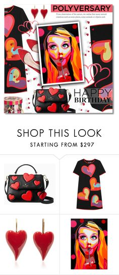 """""""Celebrate Our 10th Polyversary!"""" by valentina1 ❤ liked on Polyvore featuring Kate Spade, Boutique Moschino, Charbonnel et Walker, polyversary and contestentry"""