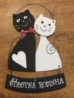 Keramická kočka kocour - černobílý dekor :: Keramika Andreas