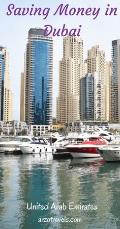 How to save money in Dubai, and still enjoying some luxury. Saving Money in Dubai. UAE. Dubai on a Budget.  Travel saving tips.