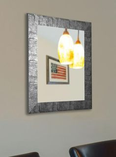 American Made Rayne Safari Silver Wall Mirror - ~Suggested Retail~ Wall Mirrors Entryway, White Wall Mirrors, Silver Wall Mirror, Lighted Wall Mirror, Rustic Wall Mirrors, Contemporary Wall Mirrors, Living Room Mirrors, Mirror Bedroom, Mirror Set