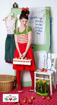 apple dirndl dress by mein herzblut