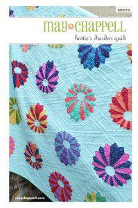 Hattie's Dresden Quilt #dresden-plate #intermediate #may-chappell #pattern #quilt #quilt-pattern