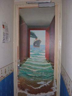 Door Mural...kinda cool.
