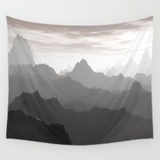 Shades Of Gray Wall Tapestry