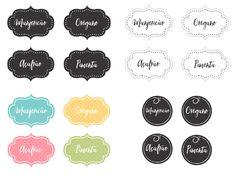 Lindas etiquetas para imprimir e  organizar temperos e alimentos.