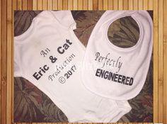 Facebook.com/brittsbitz Custom Baby Bodysuit Onesie Bib